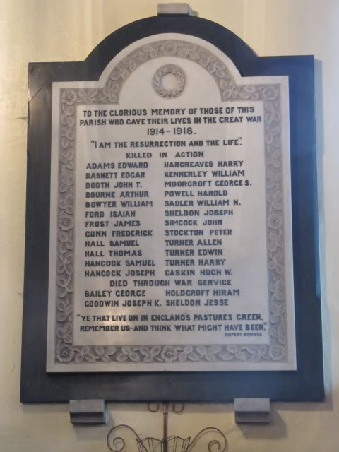 Church Memorial ww1
